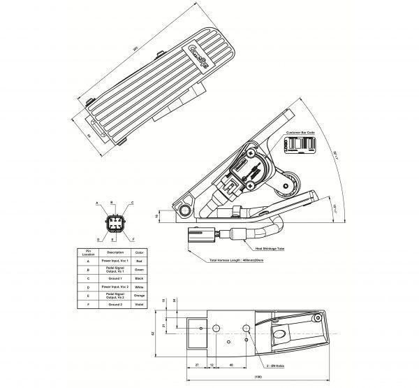 Bộ Chân Ga Xe Nâng Điện Ngồi Komatsu -11-12 ComeSys